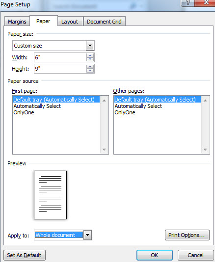 book formatting MS Word