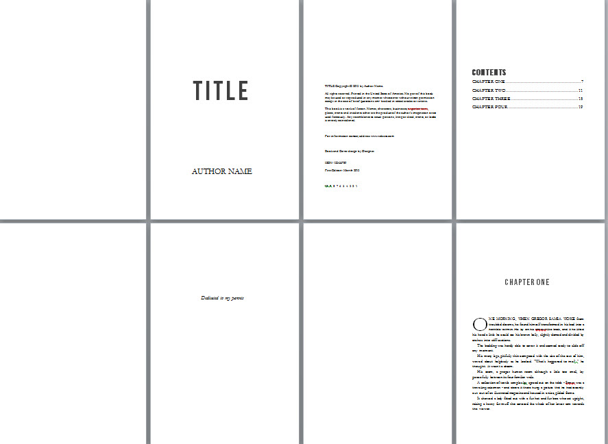 Book Copyright Page  Microsoft Word Book Template Free