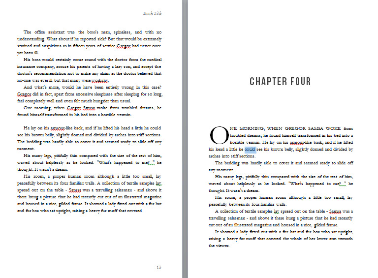 Nice Drop Cap In MS Word  Microsoft Word Book Template Free