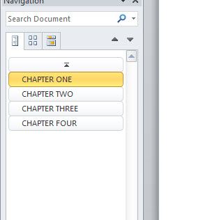 Book formatting table of contents