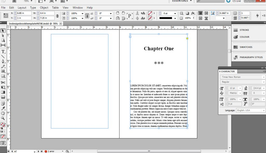 How to format a book in InDesign