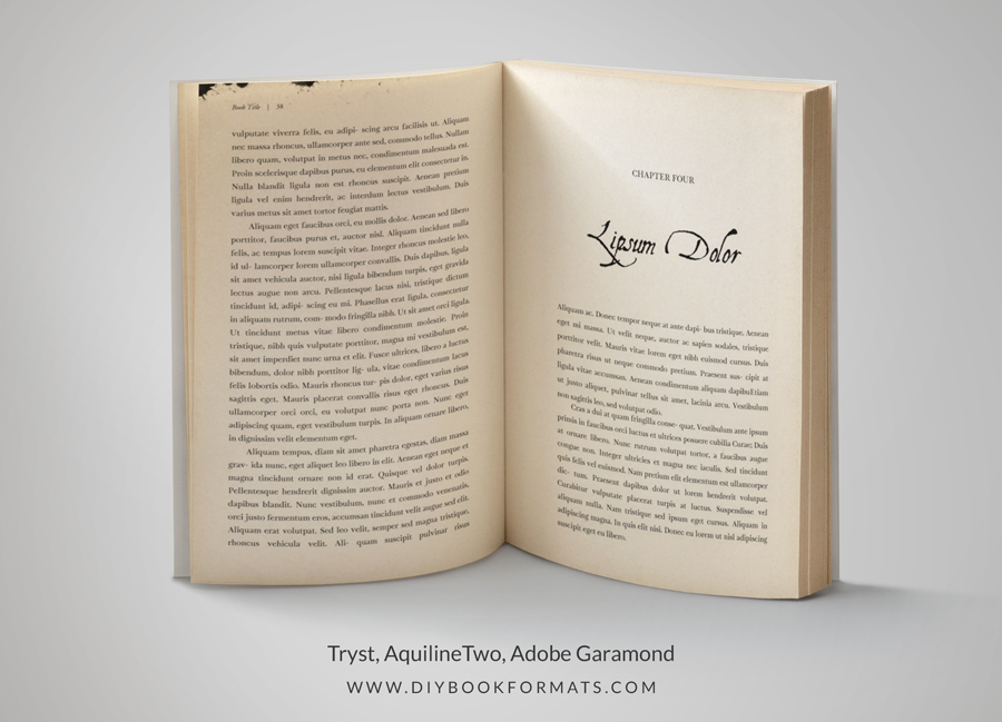 indesign templates for books - diy book formats book design free formatting templates