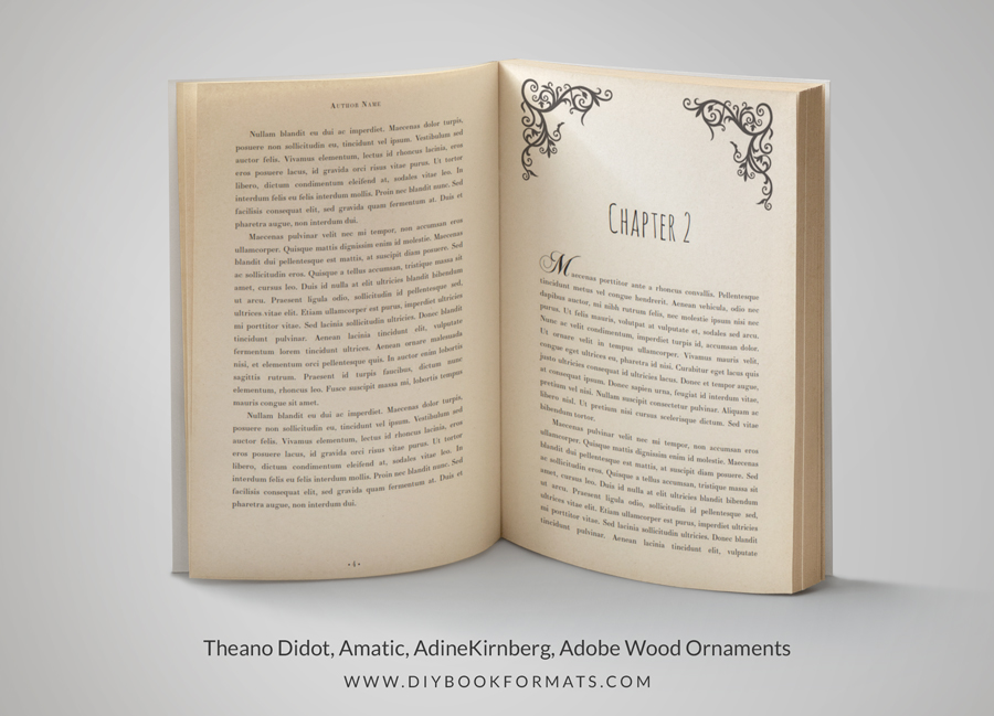 Diy Book Formats Book Design Amp Free Formatting Templates